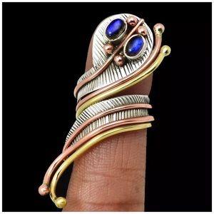 .925S Artisan Labradorite Large Snake Ring